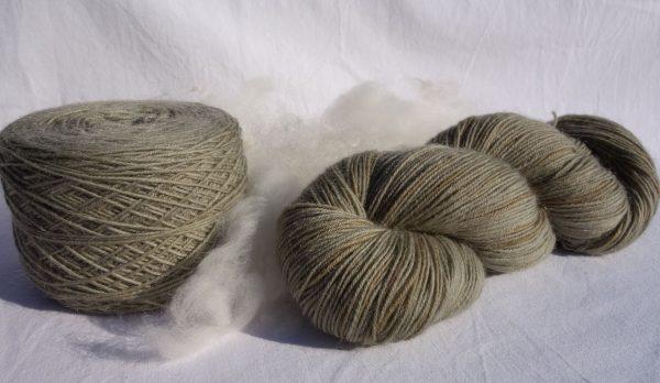 Laine mérinos et mohair – teinture achillée 1032-1033