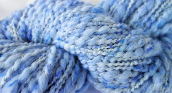 Laine filée mérinos (tweed) fil fantaisie bleu 1177