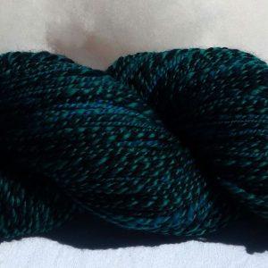 Laine filée mérinos – bleu et bleu canard. 1261