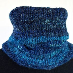 col laine filée teinture indigo 786