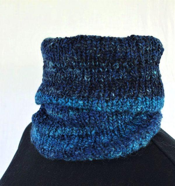 col laine filée tricot indigo 786