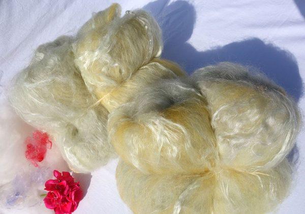 nappe cardée teinture végétale rambouillet alpaga mohair 1291